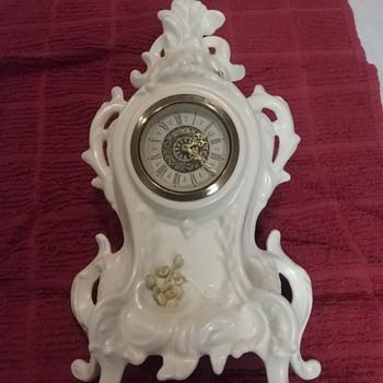 German Porcelain Clock - Clocks