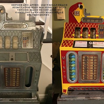 Mills 1946 Trade Stimulator Slot Machine - Coin Operated