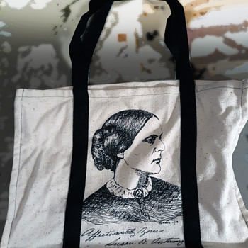 1973 National Women's Political Caucus Convention Tote Bag w. Susan B Anthony - Accessories