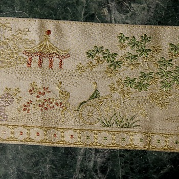 Three Feet of Silk Trim from China or Japan? - Asian