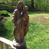 Madonna and Christ Child Wooden Carving