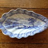Antique Blue & white pickle dish? Serving tray