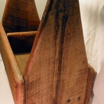 Old Wooden Ferriers Tool Carrier - Folk Art