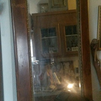Old Mirror given to me 30 years ago. It was old then.
