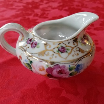 Porcelain Creamer Unmarked  - China and Dinnerware