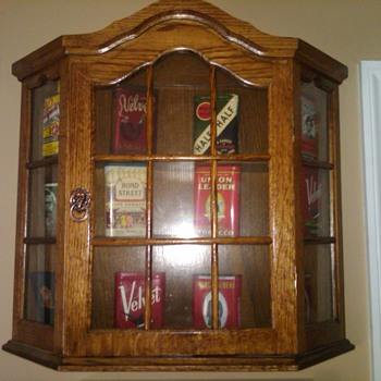 James' new Cabinet for his tobacco cans - Tobacciana