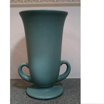 Mystery Solved ! Finally !! /Pfaltzgraff Art Pottery Vase /Matte Green Glaze/ Circa 1930-40 - Pottery
