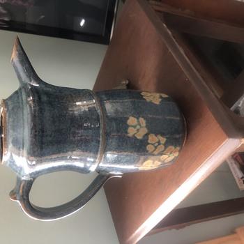 Studio art pottery coffee pot  - Pottery