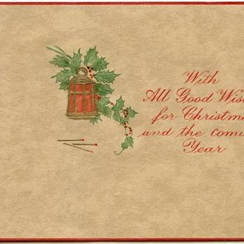 1920's Christmas card