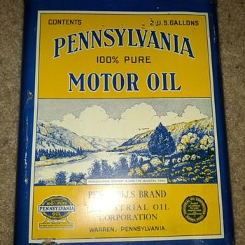 Pennsylvania Motor Oil Can - Petroliana