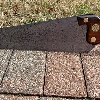 """1850 Richard Groves & Sons 13"""", 8 TPI Handsaw from Sheffield, England - Tools and Hardware"""
