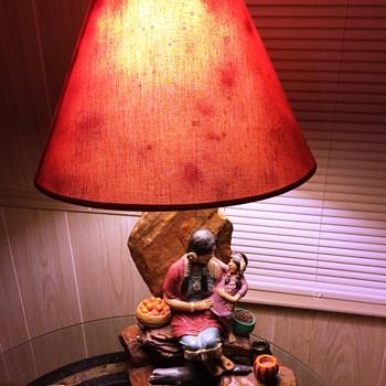 Florentine Art Studio Plaster Lamp