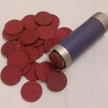 OPA Red Point tokens and dispenser - US Coins