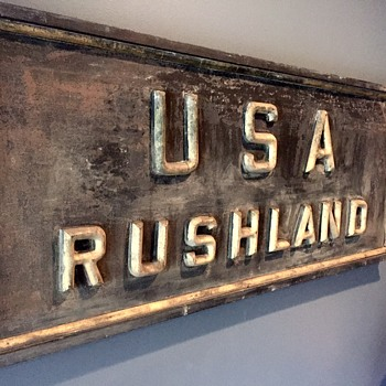 USA Post Office Sign, Rushland PA (19th Century)