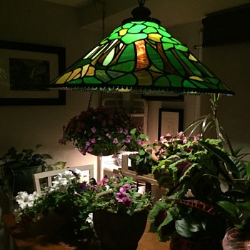 Vintage leaded glass shade - Lamps