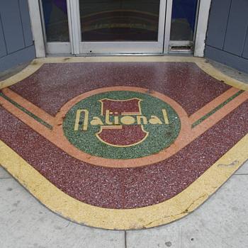 Tile Mosaic sidewalks, Wilkes-Barre, PA - Advertising