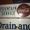 1940's Coca Cola Fountain Service sign