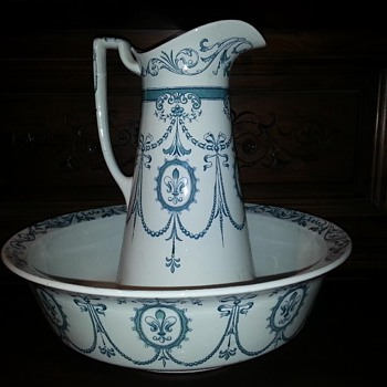 Thank you Gramma for this Pitcher and Wash bowl and bucket? Adderley  - China and Dinnerware
