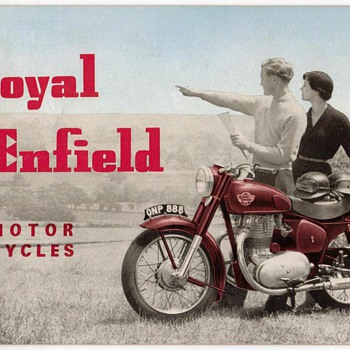 "1956 - ""Royal Enfield"" Motorcycles Brochure - Paper"