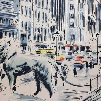 MICHIGAN BOULEVARD - Chicago Watercolor by John Haymson  - Fine Art