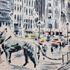 MICHIGAN BOULEVARD - Chicago Watercolor by John Haymson