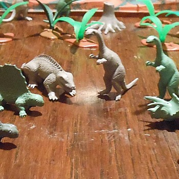 Permian Ply Time Featuring Small Mold Group PL-755 Marx Dinosaurs - Toys