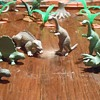Permian Ply Time Featuring Small Mold Group PL-755 Marx Dinosaurs