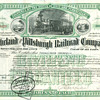 Cleveland & Pittsburgh Railroad Company Stock Certificate