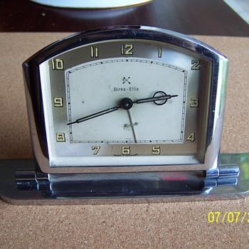 Deco Chromium alarm clock. Made for Birks Ellis (Canada's Tiffany) - Art Deco