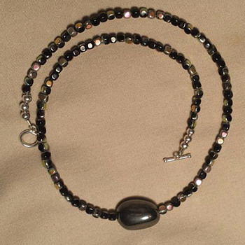 Beaded Necklace - Silver