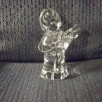FM Ronneby signed crystal angel - Figurines