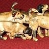 Vintage Cold Painted Pack Of Hounds