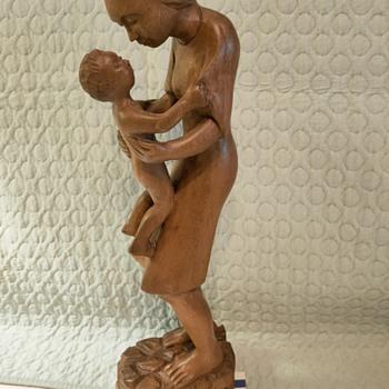 UNE MAMAN ET SON ENFANT - Fine Art
