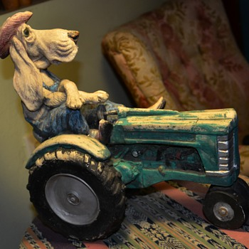 Hound on a Tractor - Animals
