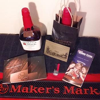 MAKER'S MARK BOURBON stuff, group 2  - Bottles