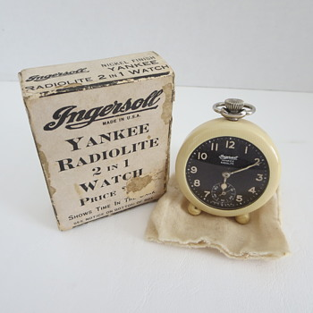 Ingersoll Yankee Radiolite 2 in 1 Watch - Pocket Watches