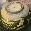 Very Old and Worn Mexican Bowl from Tonala, Guadalajara, Mexico