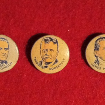 American President pinbacks - Medals Pins and Badges