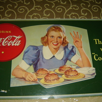 1940's coke cardboard sign - Coca-Cola