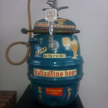 ballantine antique keg cooler - Breweriana