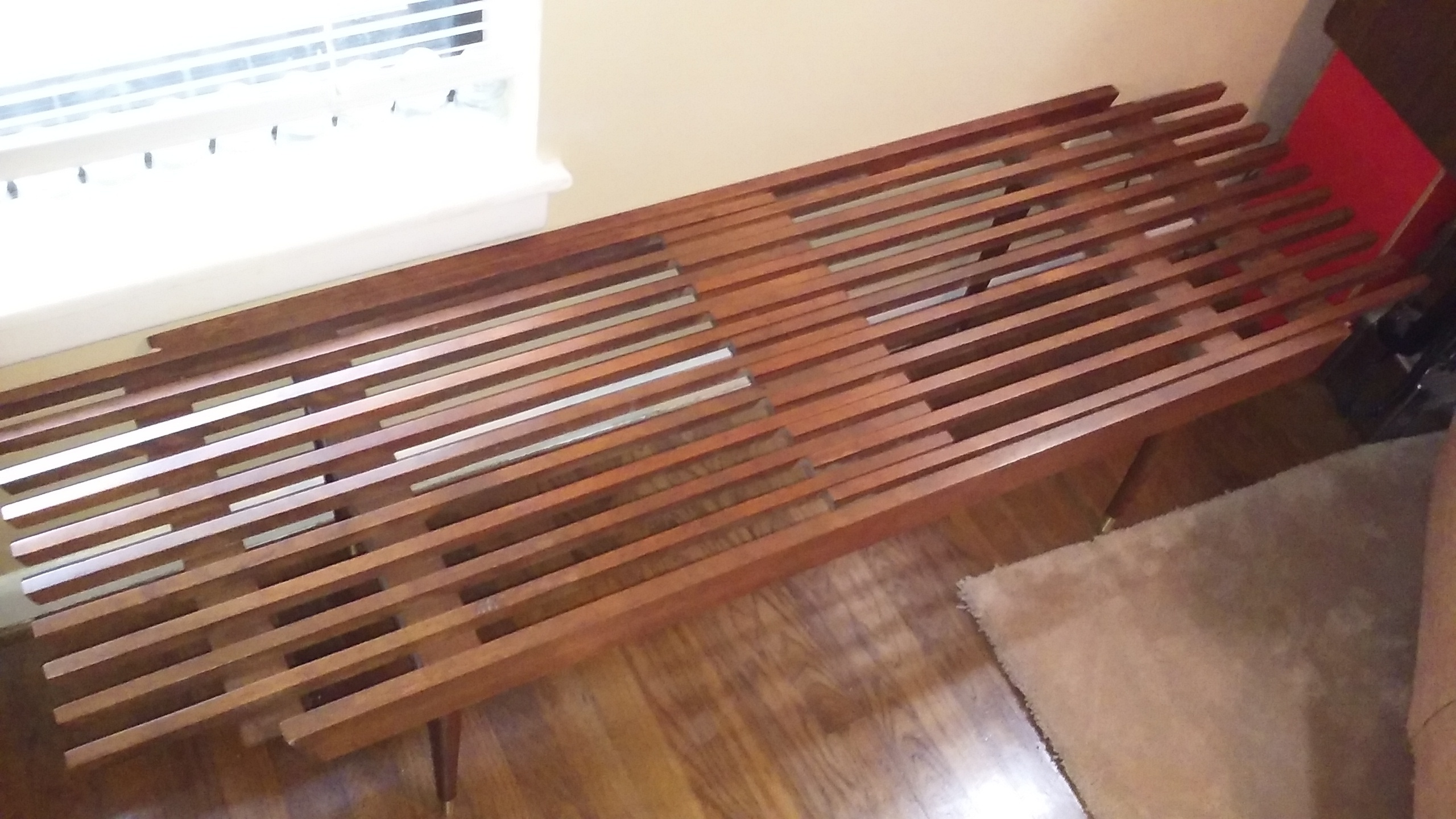 Mid Century Expandable Slatted Top Coffee Table Collectors Weekly
