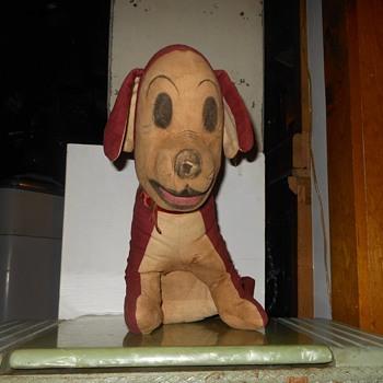 Antique Straw Stuffed Dog Doll