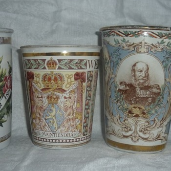 Historical Memorabilia Enamel Cups - Advertising
