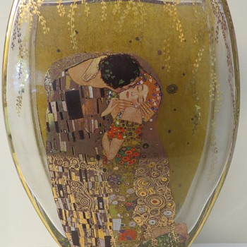 Goebel Glass Vase - Gustav Klimt - Art Glass