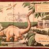 1933 Chicago Sinclair Road Map Dinosaur Worlds Fair