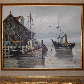 Boats in Harbor - Fine Art