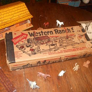Marx Western Ranch Set Playset Box - Toys