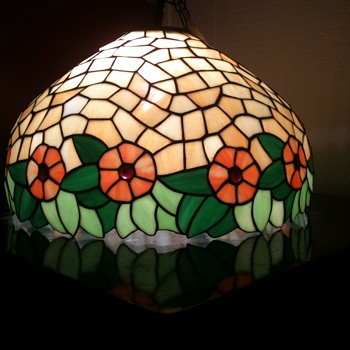 slag glass,lead shade, A Beautiful Mystery - Lamps