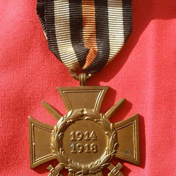 Cross of Honor, aka Hindenburg Cross. German WWI service award from 1930's - Military and Wartime