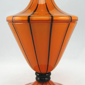 Loetz Tango Striped Jar, Ausführung 157 - Art Glass